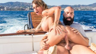 Busty Spanish MILF Gina Snake gets fucked on a boat by Max Cortes - Chicas Loca
