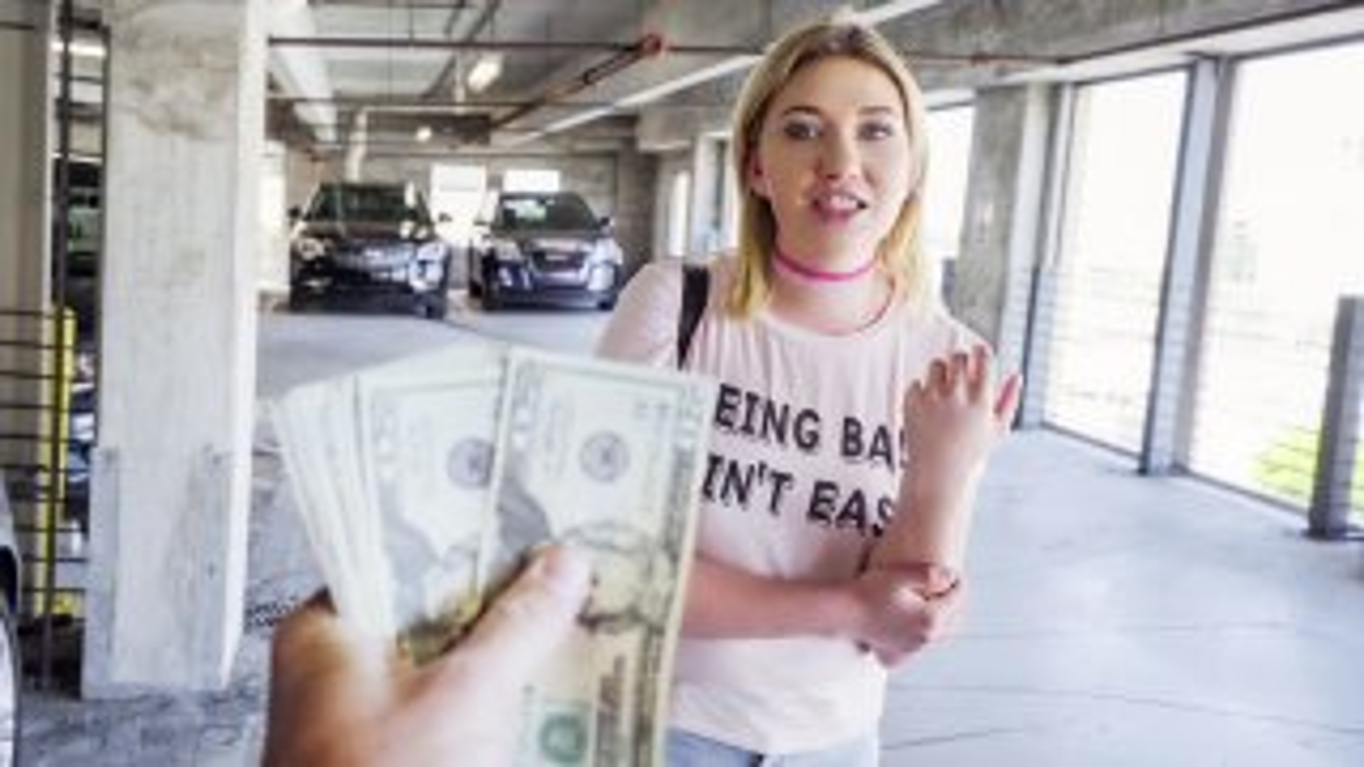 Saucy Blonde Fucks for Money - Public Pickups